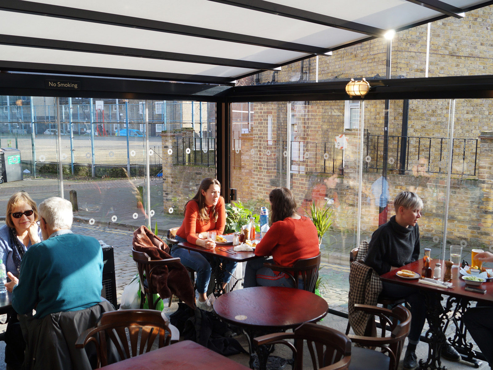 Customers enjoying a lunch in our conservatory